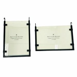 Pottery Barn 4 Black Metal Picture Frames 4x6